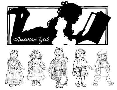 free American Girl coloring pages