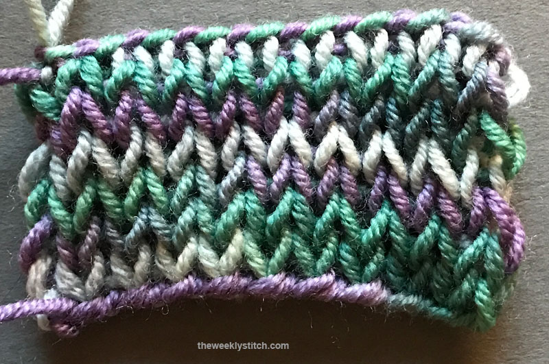 Loom Knitting With Two Colors : Double stockinette the weekly stitch