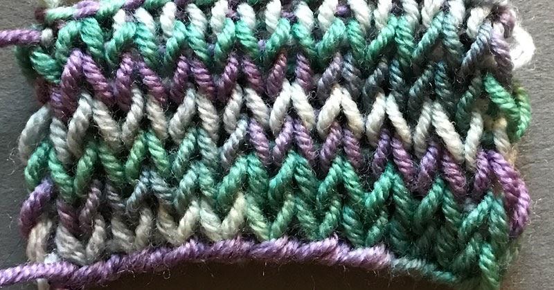 Knitting Stitches Sl1 Wyif : Double Stockinette The Weekly Stitch