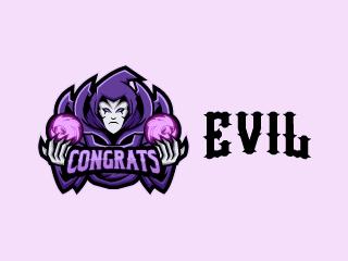 Evil Warlock Mascot Logo