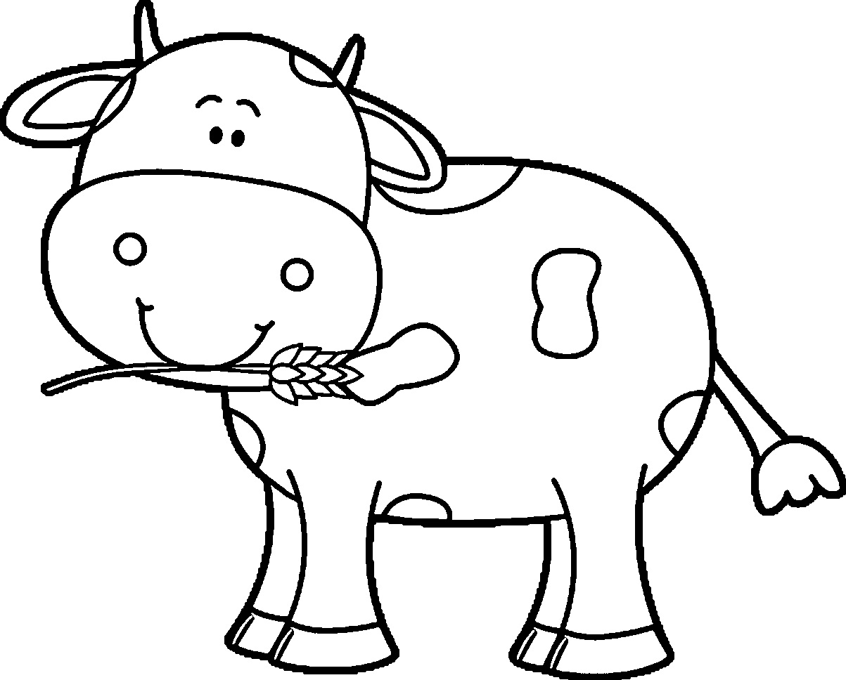 Cow coloring picture - photo#24