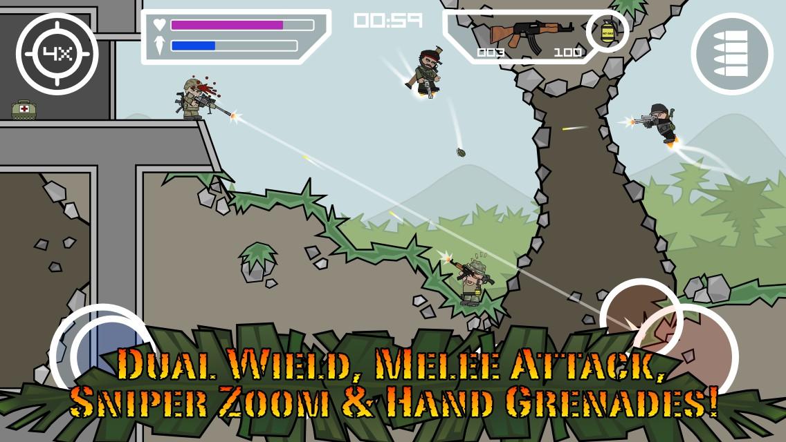 تحميل لعبة مينى ميليشيا Doodle Army 2 : Mini Militia مهكرة