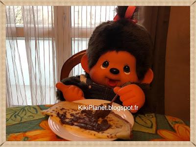 Les Monchhichi fêtent la Chandeleur, kiki, crêpe, nocilla, kiki de tous les kiki