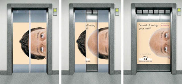 Folliderm Prevent hair loss Top 27 Creative Elevator Advertisements