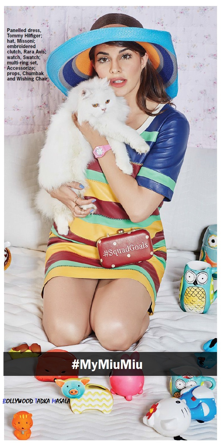 Jacqueline Fernandez looks chic beauty trendy pics from Cosmopolitan India magazine March 2016 issue