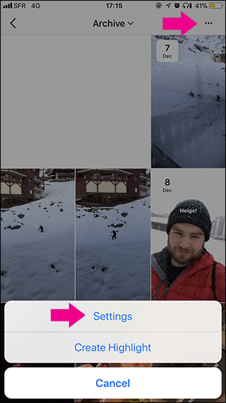 Cara Melihat Stories yang Diarsipkan di Instagram