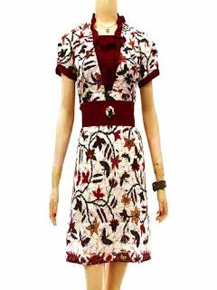 Dress Batik Elegan Terbaru