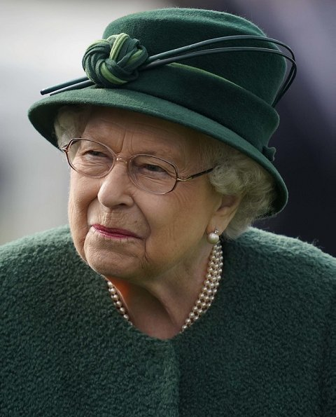 The Queen has several variations of pearl and diamond earrings, Queen Mary's button earrings.  The Queen's Jewels, strand necklaces