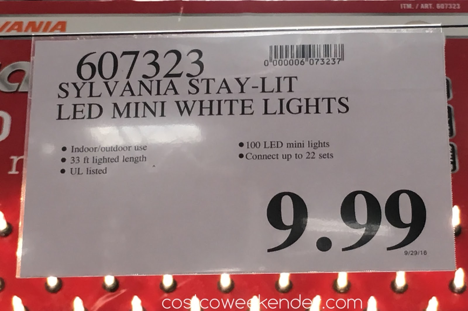 Deal for the Sylvania Stay-lit 100 LED Mini White Lights at Costco