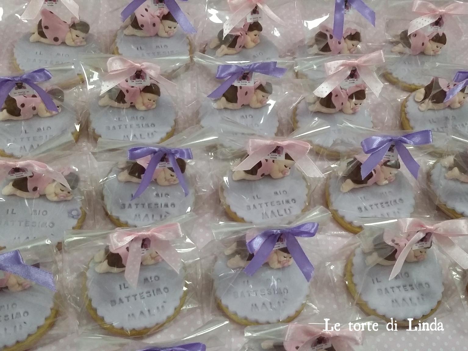spesso Le torte di Linda: Biscotti segnaposto Battesimo GB92