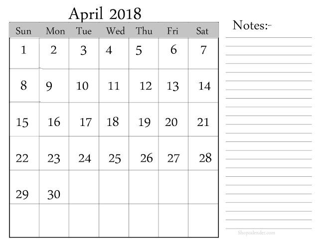 April 2018 Printable Calendar, April 2018 Blank Calendar, April 2018 Calendar Template, April 2018 Calendar Printable, April 2018 Calendar, April Calendar 2018, April Calendar, Print April Calendar 2018, Calendar 2018 April, April 2018 Templates