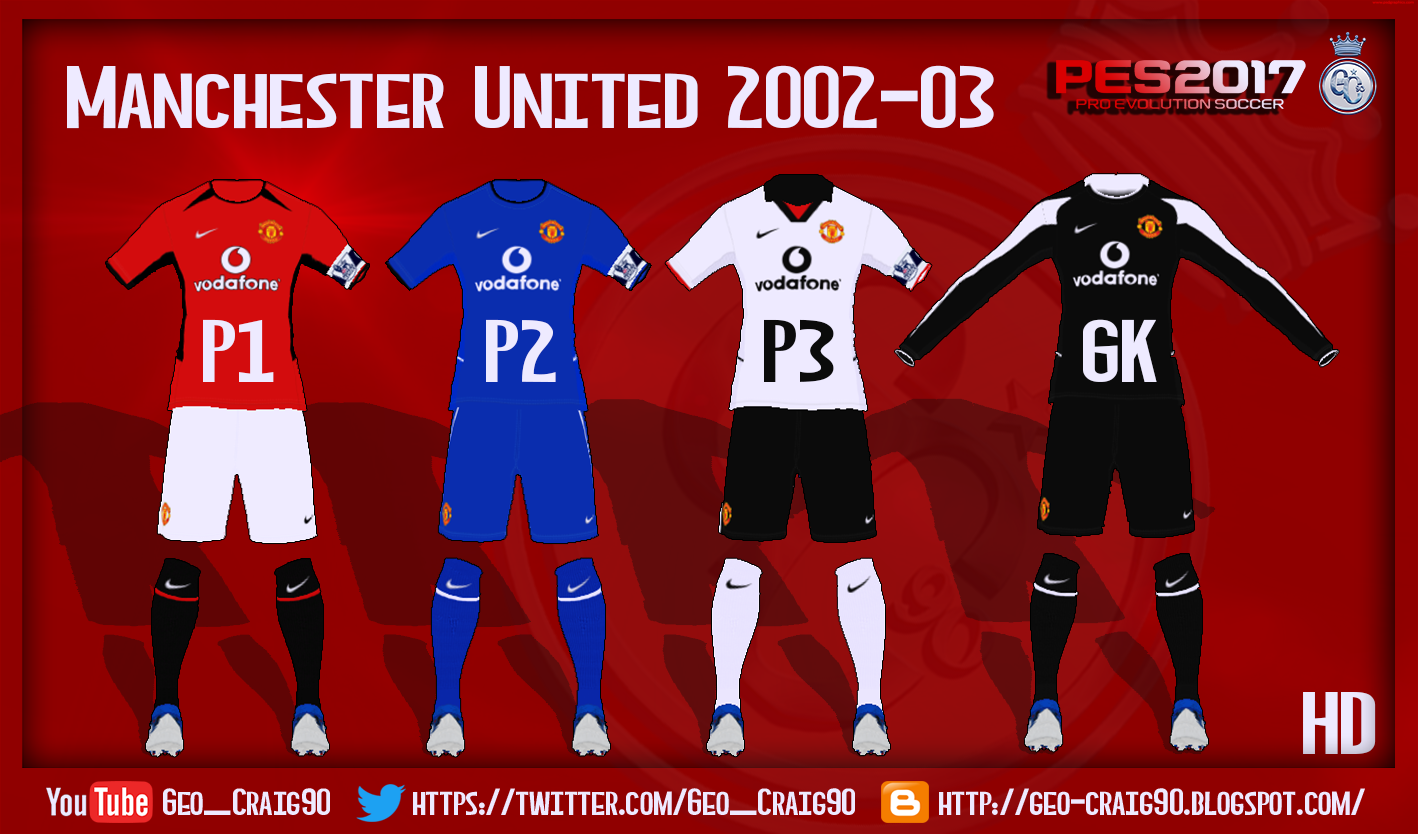 PES 2017 Manchester United kit 2002-03 HD f2281d192