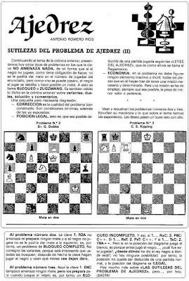 Problemas de mate de Antonio Romero Ríos en la revista Ejército, julio1986