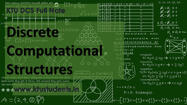 ktu Discrete Computational Structures CS201 Full Note ktu dcs