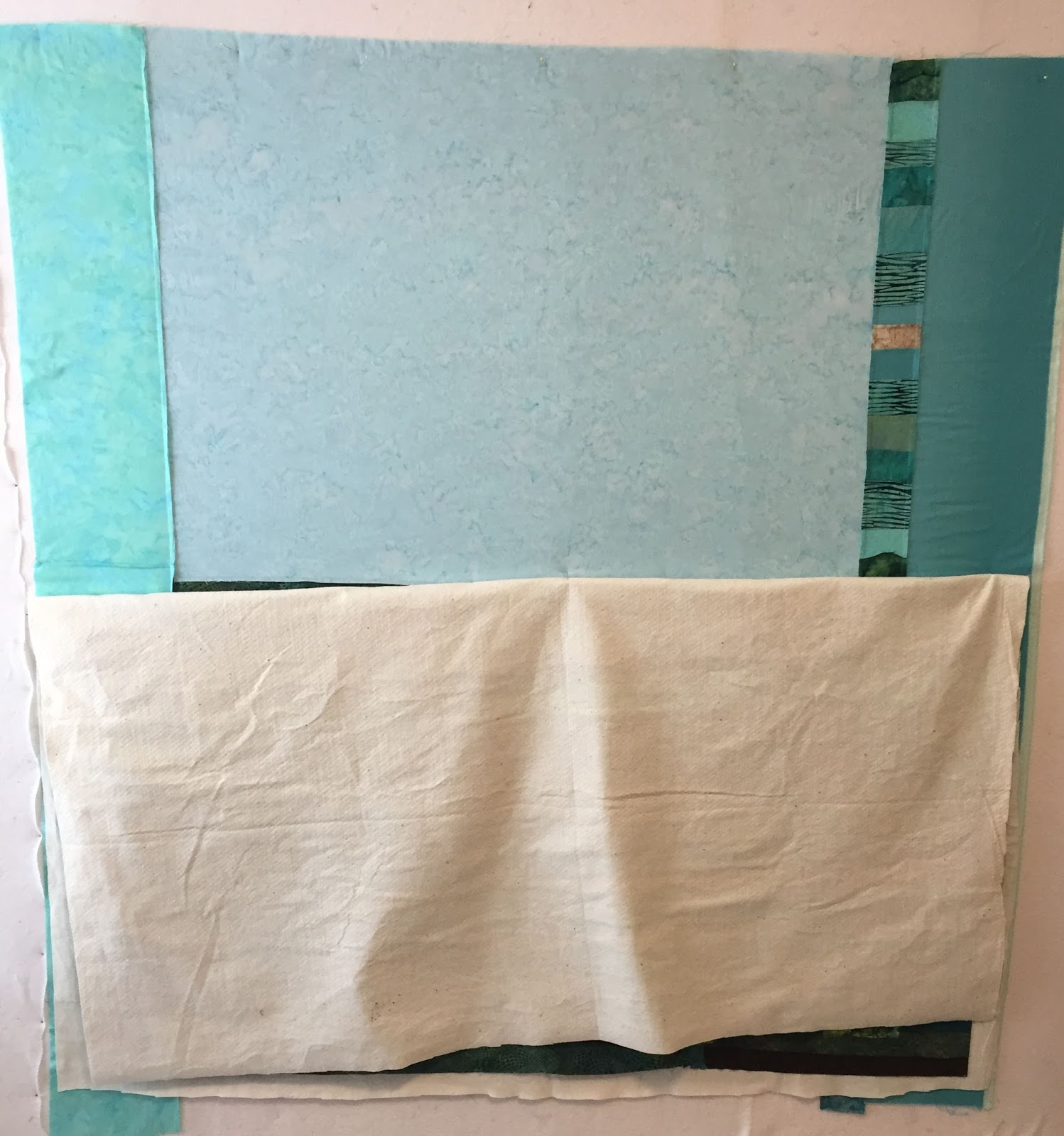 She Quilts It: Basting on the Design Wall