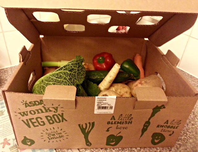 A box of Asda's Wonky veg