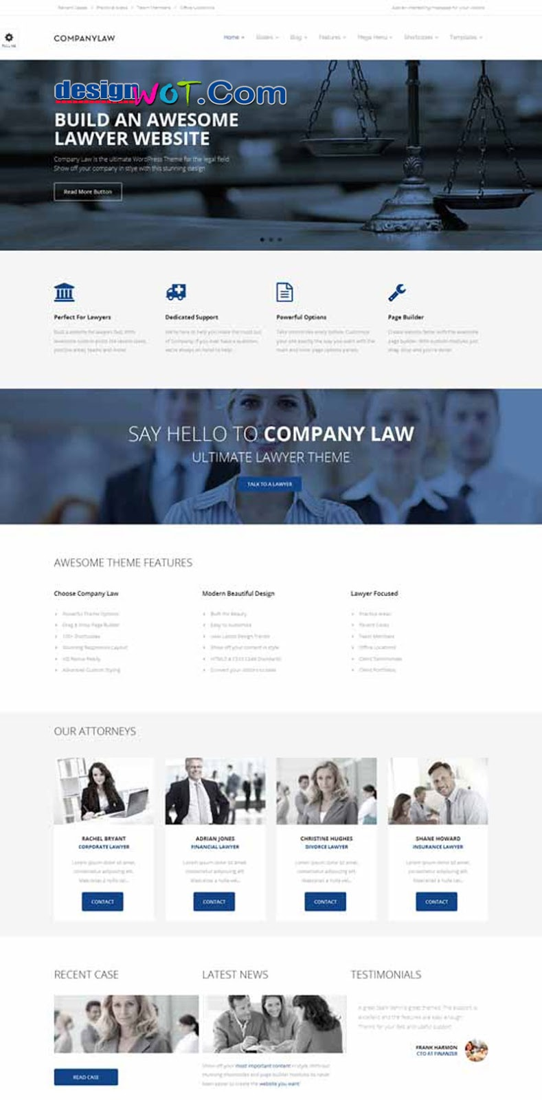CompanyLaw - Lawyer and Attorney WordPress Theme