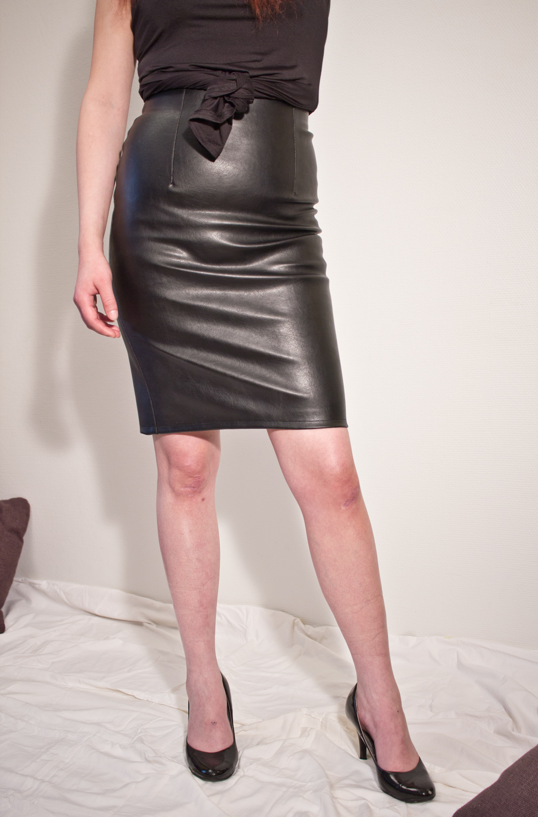 If it's a new out-out outfit you need, pick up a leather look mini in black and style it out with a lace bodysuit, and for a office look you won't ever wanna take off, our PU and faux leather midi skirts are perfect for tucking blouses into.