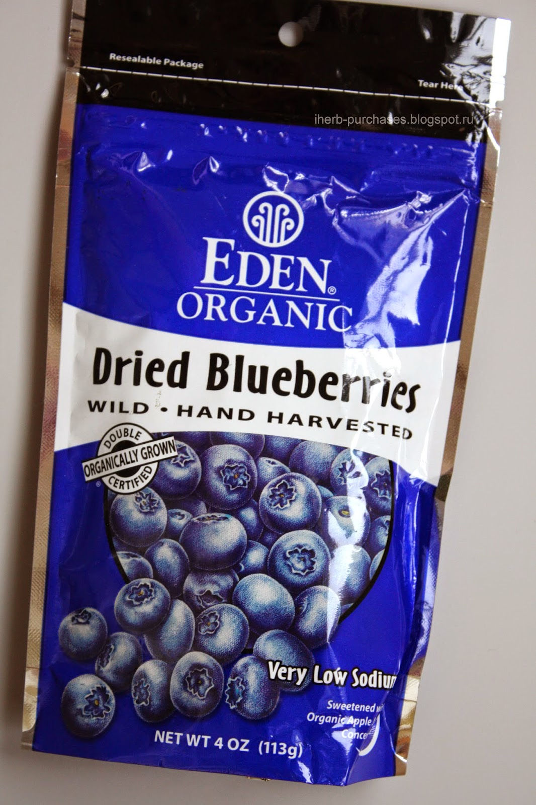 Eden Foods, Organic, Dried Blueberries, 4 oz (113 g)