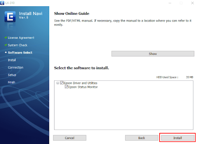 Cara Instal Printer Epson LX-300+II, LX-310 Di Windows 10