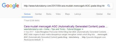 artikel sudah terindeks google