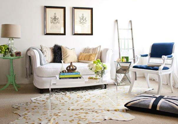 Tiffany Leigh Interior Design: Metallic Hide Rugs