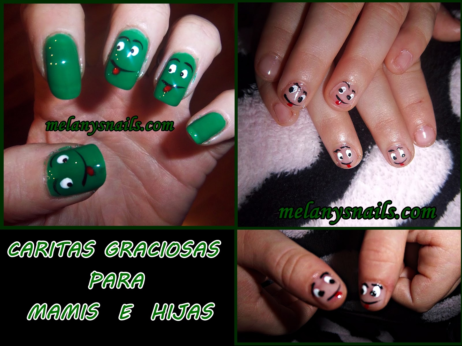 Melanys Nails Uñas Navidad Mamis E Hijas Caritas Alegres