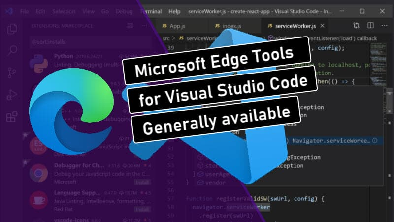 Microsoft Edge (Chromium) Tools for Visual Studio Code now generally available