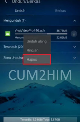Cara Melanjutkan Download Gagal di UC Browser Android