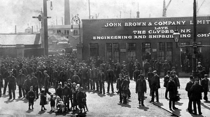 Chantiers John Brown & Company [Lusitania, Queen Mary...] Old+Photograph+John+Brown+and+Company+Shipyard+Clydebank+Glasgow+Scotland