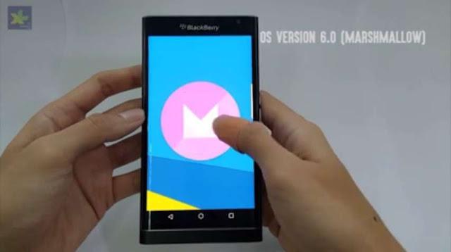 Blackberry Priv terlihat menjalankan Android v6.0 Marshmallow