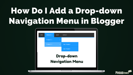 drop down navigation menu bar