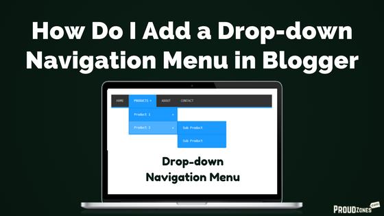 drop down navigation menu bar