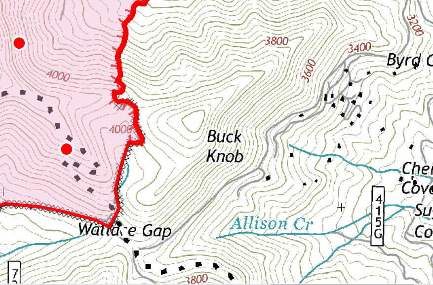 Knob Fire Wallace Gap Sector  Click to Embiggen