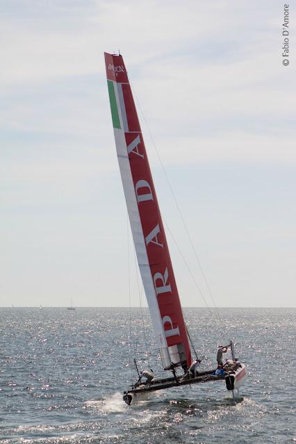 America's cup di vela-Napoli-Luna rossa