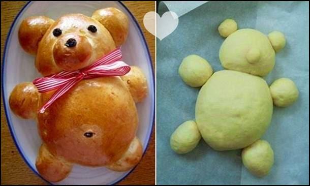 receita pão ursinho