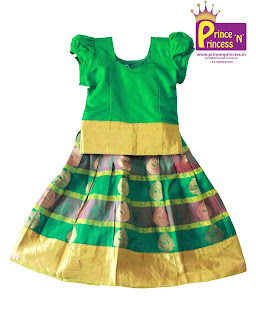 Kids Girls Pattu pavadai Pure Silk langa
