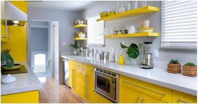Elemen Penting Untuk Interior Kitchen Set Adalah Warna