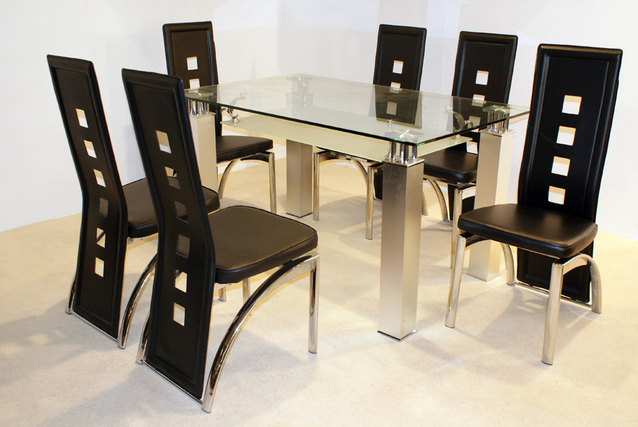Sala De Jantar Inox E Vidro ~ Sala de jantar com mesas de vidro ~ Decoração e Ideias  casa e