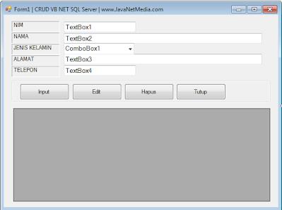 Membuat CRUD VB .Net Database SQL Server