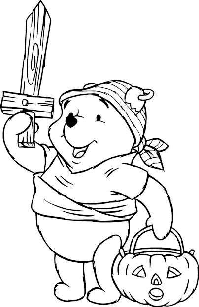 Halloweenpiratespicturestocolor  The Pooh Pirate Halloween Coloring  Pages