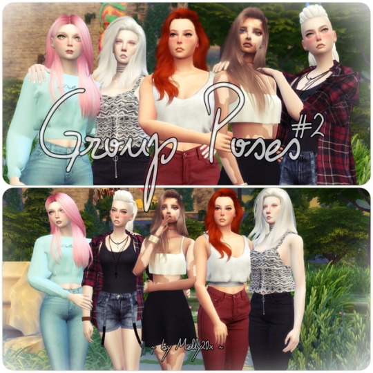 Sims 4 CC\'s - The Best: Group Poses #2 by Melly Sims