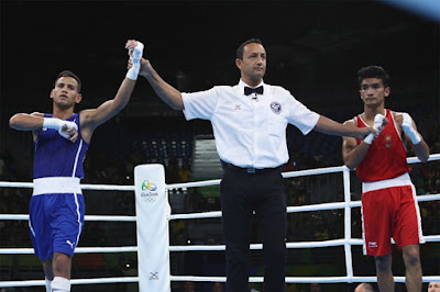Robeisy Ramirez of Cuba beat Shiva-Thapa in Rio Olympic(56kg) Boxing
