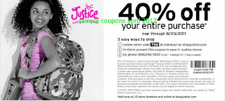 Justice For Girls coupons for april 2017