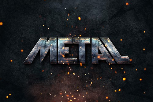 Photoshop Metal Text Style Effect PSD | Freebies PSD