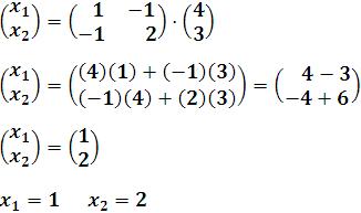 Obtención de la matriz de variables solución X