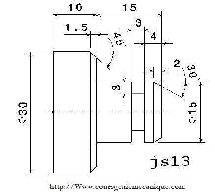 exercice programmation de précision Tournage Cn avec la corrigé les codes G et les code M
