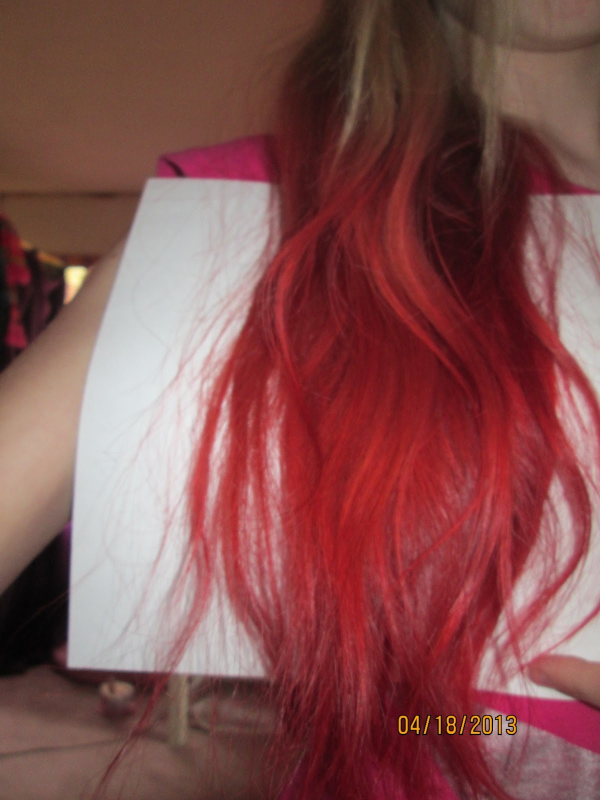 How To And Diy How To Dip Dye Hair Red In Ten Steps