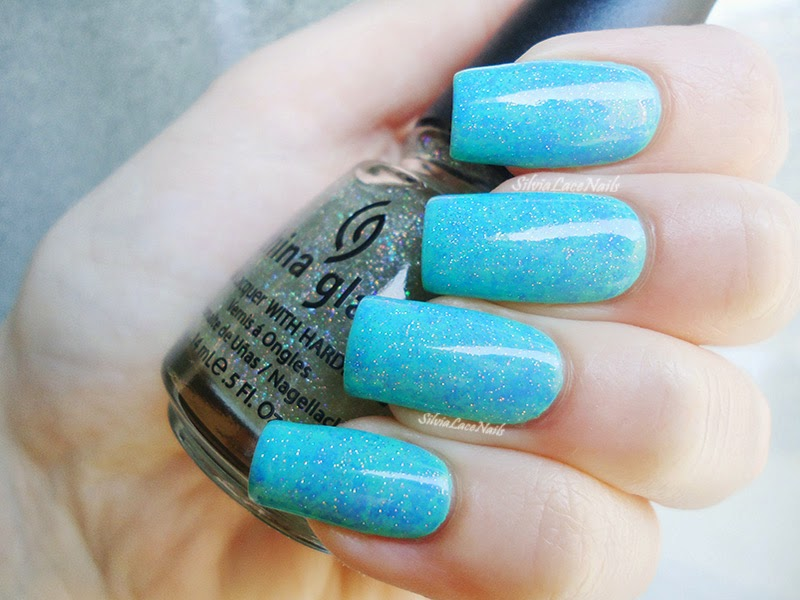 blue and mint saran wrap