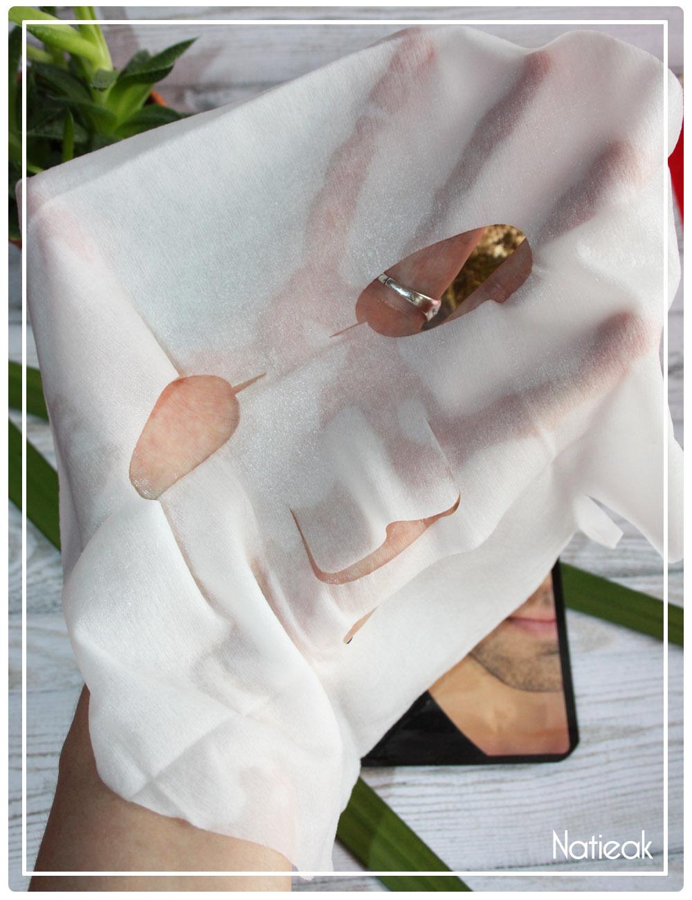 masque déplié Wrap hydratant de Qiriness Men